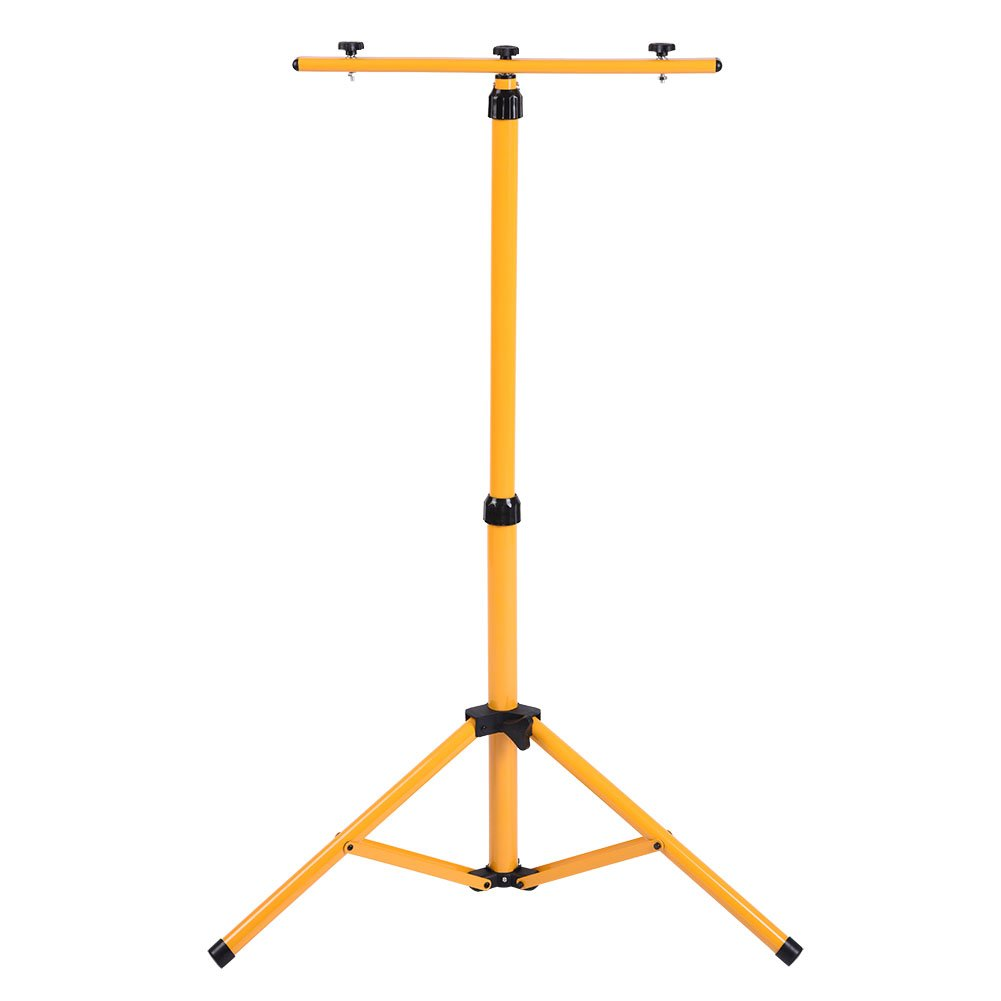 Work Light Tripod Stand, Steel Telescopic Twin-Head Tripod Stand for LED Flood Light Construction Site Work Lamp Emergency Lamp