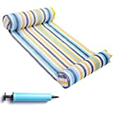 FindUWill Hammock Float Portable Swimming Pool Lounger with Inflatable Water Pillow (Colorful)