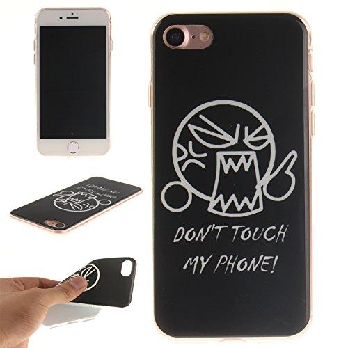 Custodia iPhone 7 / iPhone 8 , LH Non Toccarmi TPU Silicone Cristallo Morbido Case Cover Custodie per Apple iPhone 7 / iPhone 8 4.7