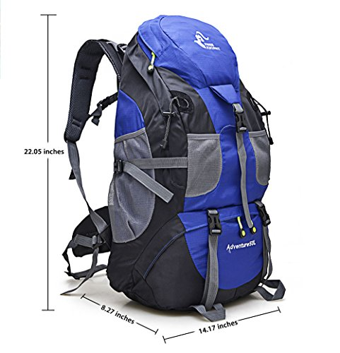 VIPASNAM-FREE KNIGHT 50L Blue Outdoor Backpack Camping Hiking Mountaineering (Pottery Barn Sunbrella)