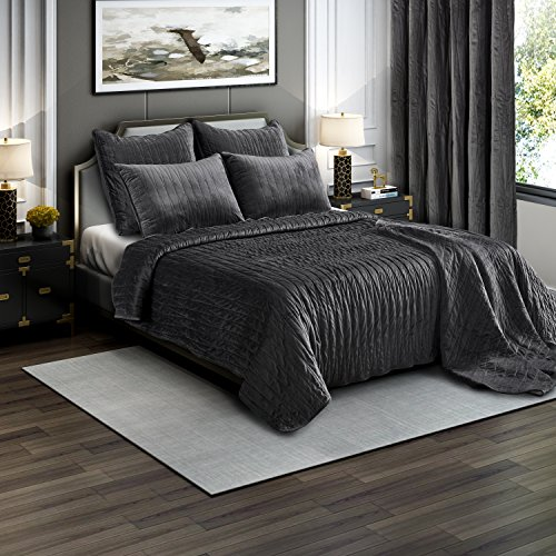 Brielle Premium Velvet Backing Charcoal product image