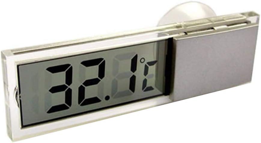 Guangcailun Las temperaturas del term/ómetro Celsius Fahrenheit LCD Digital medidor Ventosa para el Cuidado de la Salud de Interior de Coches al Aire Libre