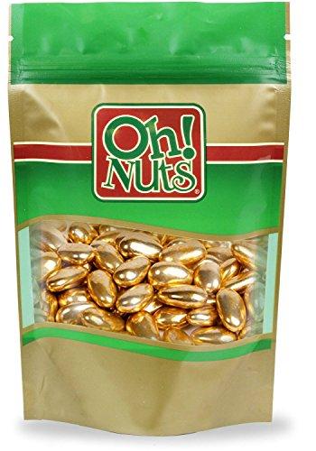 Gold Jordan Almonds 2.2 Pound Box]()