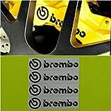 R&G Brembo HIGH TEMP Brake Caliper Decals Sticker Set of 4 (Black MATTE)