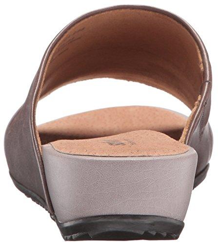 SoftWalk del Mar de la mujer cuña sandalias de diapositivas gris