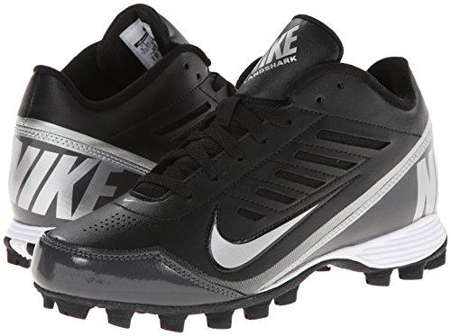 Nike Kids Boy's Land Shark 3/4 BG (Toddler/Little Kid/Big Kid) Black/Tornado/Metallic Silver  5.5 Big Kid M - Image 5