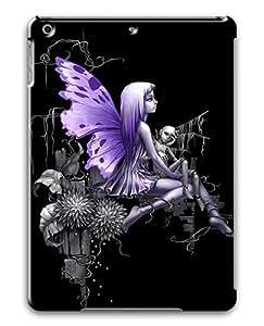 IMARTCASE Apple iPad Air Case, Lonely Fairy Animated Purple Graphic PC Hard Plastic Case for Apple iPad Air