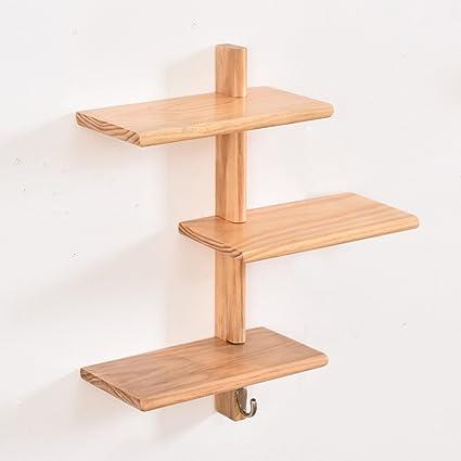 WOODJU Repisa flotante de repisa de madera estante de pared ...