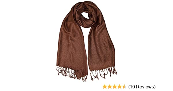 6eccf6d2676 Peach Couture Princess Shimmer Scarf Pashmina Shawl with Fringes