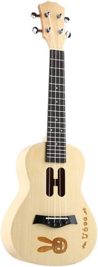 QLJ08 23 pulgadas Ukulele Maple wood Mini guitarra de viaje Hawaii ...