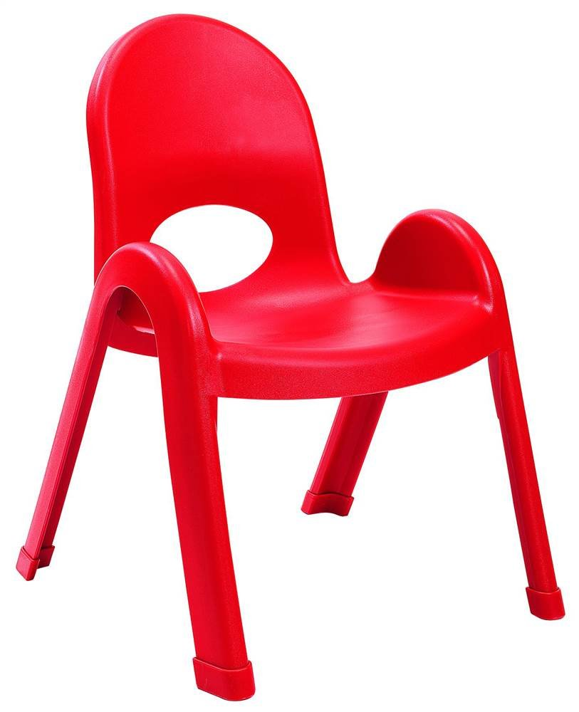 Angeles 11-Inch Value Stack Chairs Set of 4 (Candy Apple Red)
