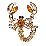 Ever Cute Rhinestone Animal Scorpion Brooch Pin Crystal Wedding Party Brooch Pin Breastpin