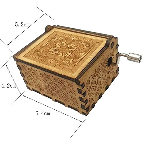 FORUSKY Hand Cranking Carved Game of Thrones Wood Music Box for Home Decoration Crafts,Toys,Gift by FORUSKY (Image #5)