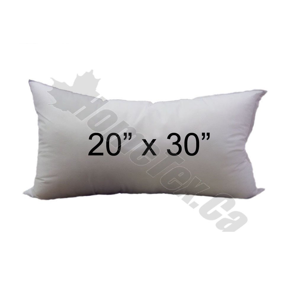 Pillow Insert 20 x 30 Rectangle -100% polyester fibre filled Hometex