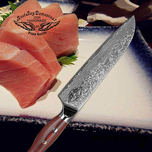 Santoku Chef knife 8 inch Best Quality Japanese VG -10 Super Steel 67 Layer High Carbon Stainless Steel, Incredible G10 Handle, Full-tang, Razor Sharp Chef Blade Kitchen Carving fillet chefs knives by Best.Buy.Damascus1 (Image #8)