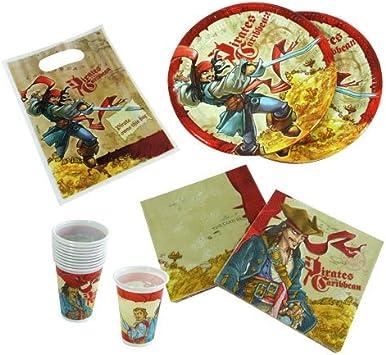 Piratas del Caribe platos de fiesta, paquete de 10 piezas: Amazon.es: Juguetes y juegos