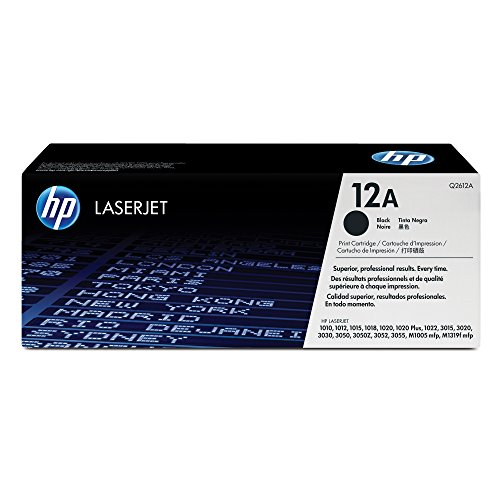HP 12A (Q2612A) Black Toner Cartridge for  HP LaserJet 1012 1018 1020 1022 3015 3020 3030 3050 3052 3055 M1319 1010 Remanufactured Toner Cartridge