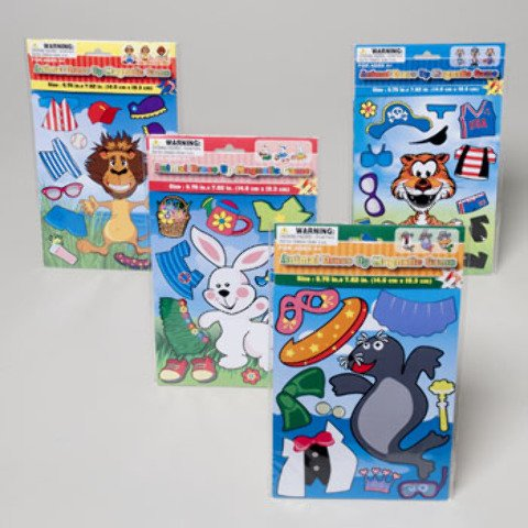 (Animal Magnetic Dress-Up Game 4 assorted styles 72 pcs sku# 1892999MA)