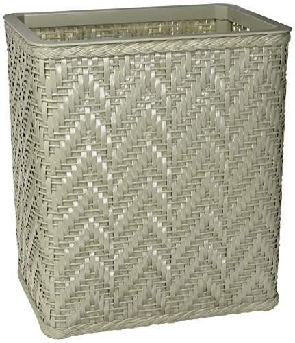 Redmon S423SG Elegante Collection Decorator Color Wicker Wastebasket Sage ()