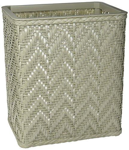 Redmon S423SG Elegante Collection Decorator Color Wicker Wastebasket, Sage ()