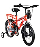 MAD MAXX Steel Kids Humber 16T Road Cycle, 16 inches (Neon Red) For 4 to 6 years Child