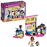 LEGO Friends 41329 Olivia's Deluxe Bedroom is set on a pink heart-shaped base and perfectly reflects Olivia's scientific side. Her robot has a functioning elevator and track system to get to the top of the room, and there's a separate breakfast area ...