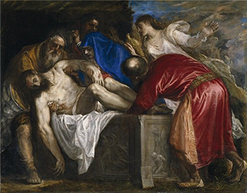 The Perfect Effect Canvas Of Oil Painting 'Titian [Vecellio Di Gregorio Tiziano] The Burial Of Christ 1559 ' ,size: 30 X 38 Inch / 76 X 98 Cm ,this Reproductions Art Decorative Canvas Prints Is Fit For Living Room Gallery Art And Home Artwork And Gifts