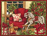 LANG 1004718  - ''Christmas Morning '', Boxed Christmas Cards, Artwork by Susan Winget'' - 18 Cards, 19 envelopes - 5.375'' x 6.875''