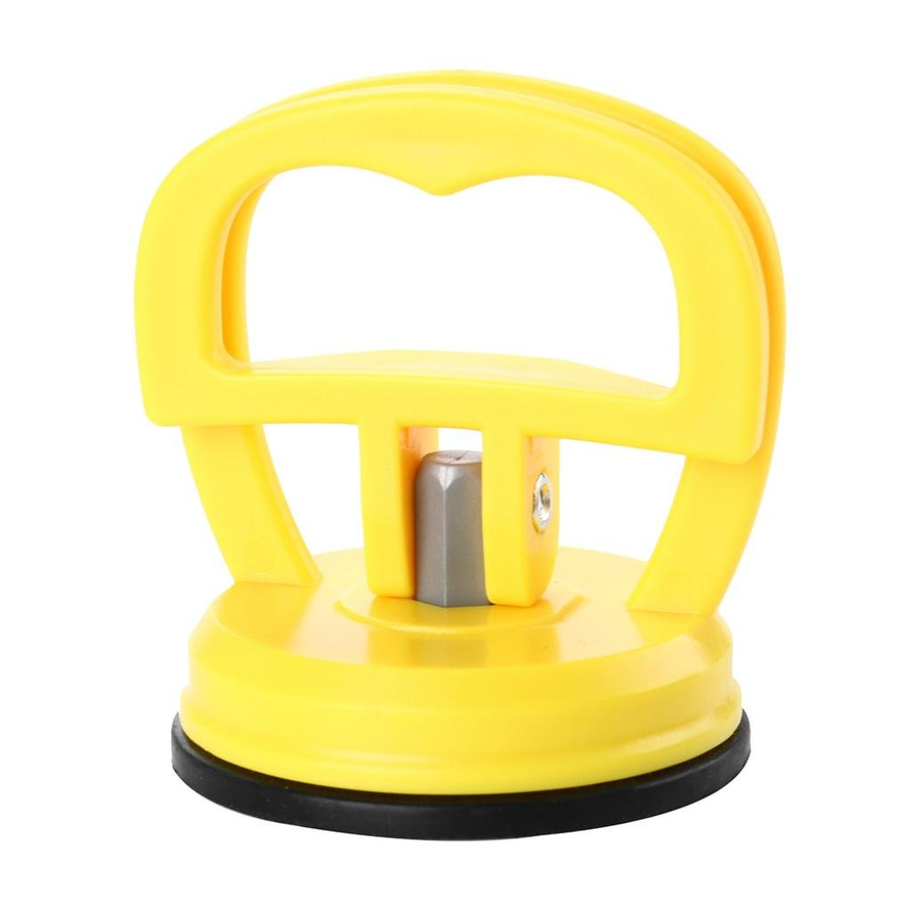 SHL Car Dent Puller, Mini Suction Cup Dent Puller Handle Lifter Dent Remover Tools (Yellow)
