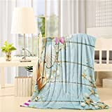 YOUNGKIDS Luxury Fleece Throw Blackets on Sofa, Starfish Seashell Sand Rustic Wood Soft Plush Flannel Blanket for Couch/Bed/Chair, 60x80inch