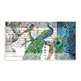 Michel Design Works Peacock Rectangular Glass Plate
