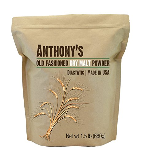 Dry Malt Diastatic Baking Powder (1.5lbs) by Anthony's, Made in the USA (1.5 Pounds) by Anthony's