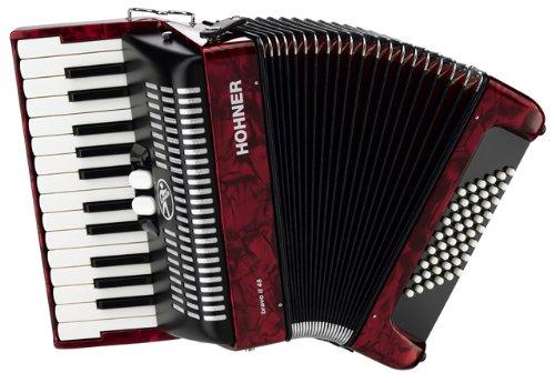 HOHNER BRAVO II 48 ROUGE Accord/éon Accord/éon chromatique Clavier piano