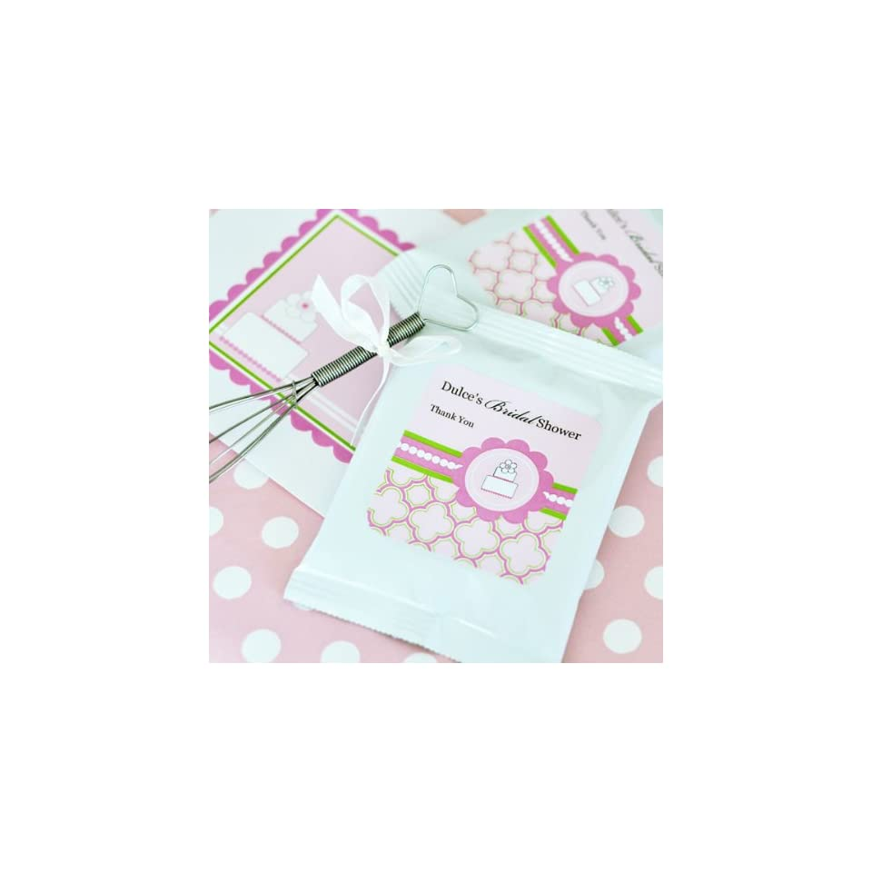 72PC EB2002PC Personalized Lemonade + Whisk Pink Cake Wedding Baby Shower Favors