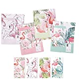 Miss Time-32 PCS Writing Stationery Paper Letter Set with 16 PCS Envelopes. 4 Beautiful Original Design for Warm Greetings. (Flamingos)