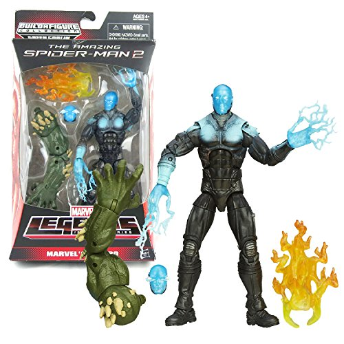 Marvel Hasbro Year 2013 Legends Infinite The Amazing Spider-Man 2 Series 6-1/2 Inch Tall Action Figure Electro with Alternative Head and Green Goblin's Left Arm