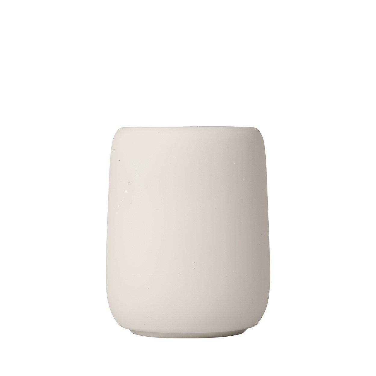 Blomus Sono Verre /à Dents C/éramique Silicone Moonbeam H 11 cm /Ø 8,5 cm V 0,3 L