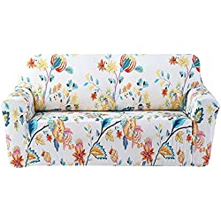 FORCHEER Stretch Couch Covers Sofa Slipcovers Fitted Loveseat Cover Seat Furniture Protector (Printed #4,3 Seat for 175-220cm)