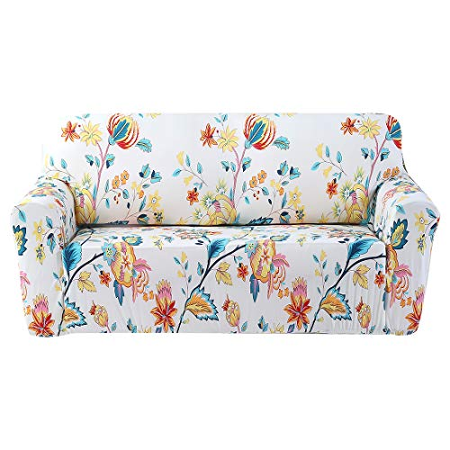 FORCHEER Stretch Sofa Slipcovers Three Cushion Printed Couch Cover Furniture Protector from Pets Pams (Printed #4,Sofa)