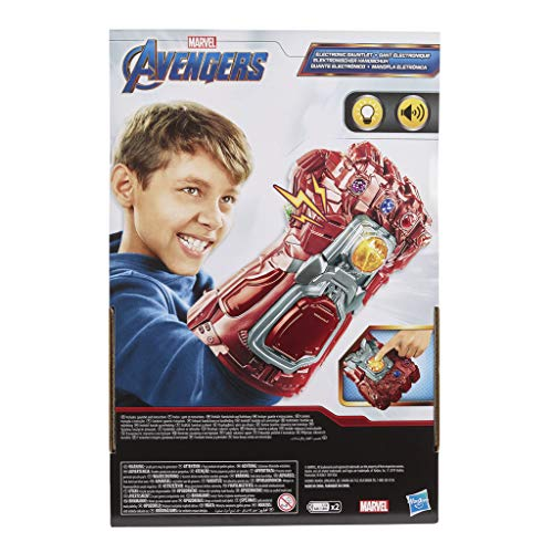 51JJheo6d8L - Avengers Marvel Endgame Red Infinity Gauntlet Electronic Fist Roleplay Toy with Lights and Sounds for Kids Ages 5 and Up