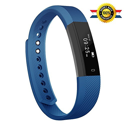Fitness Tracker,YG3 Activity Tracker Waterproof with Sleep Monitor, Bluetooth Smart Wristband Bracelet Sport Pedometer fitness Watch Step Tracker/Calorie Counter for Android and ios (Blue)