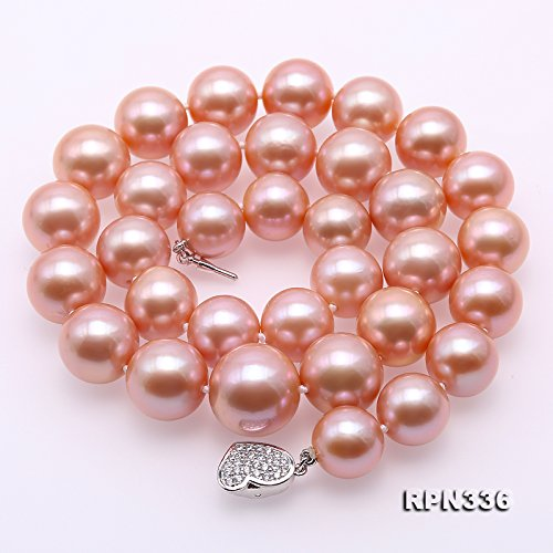 JYX Top-grade AAAAA 12-16mm Pink Freshwater Pearl Necklace 19'' by JYX Pearl (Image #2)