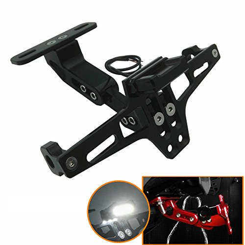 - Heinmo Motocross Motorcycle Led Tail Light Adjustable License Number Plate Frame Holder Bracket Universal for Yamaha