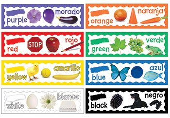 Eureka Back to School Classroom Decorations for Learning Colors, 6.5''x 0.1''x 26'', 8 -