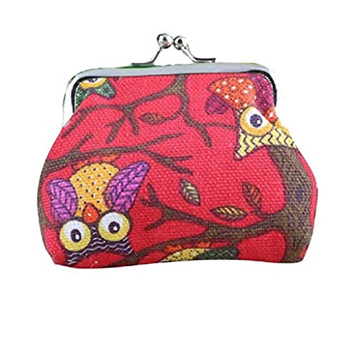 Lovely Pockets 2018 Bags Owl Style Wallet Women Clearance Hasp Wallet Clutch Handbags Small Purse Red Noopvan Coin Fashion Vintage wfYqv
