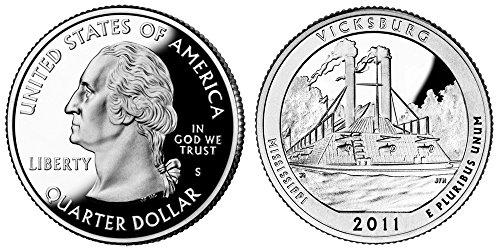 2011 S Vicksburg National Military Park Silver Proof Quarter PF1