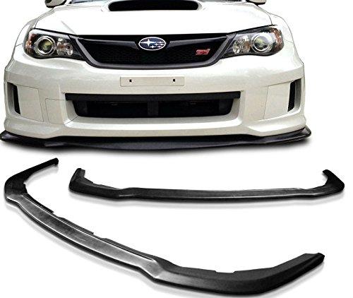 - 2011 2012 2014 Subaru WRX STi GR Front Bumper Lip Spoiler HD Style Polyurethane
