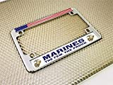 Motorcycle Metal License Plate Frame with Marines