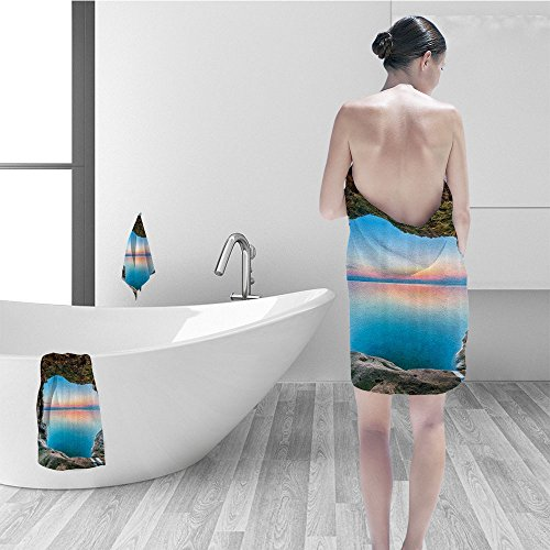Collection Grotto (Nalahomeqq Bath towel set Natural Cave Decorations Collection Fairy Image of the Horizon Inside Hidden Grotto Upper Paradise Point Tranquil Life Polyester Fabric Bathroom Multi)