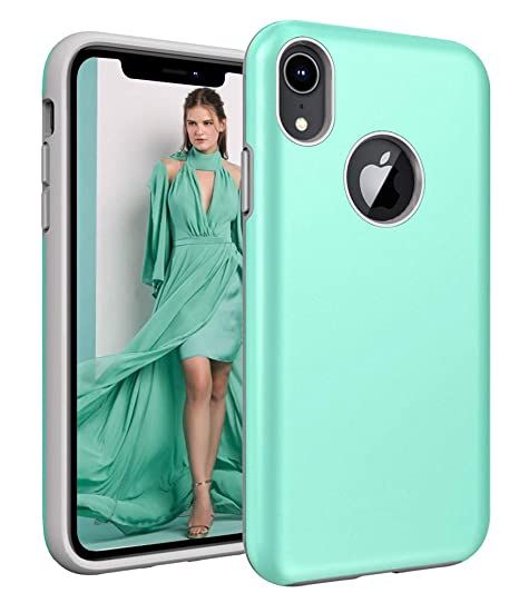 info for bbd02 d3126 iPhone XR Case, Androgate [Pearl Series] Hybrid Matte Protective Back Cover  Bumper Case for iPhone 10R / iPhone XR 6.1 Inch 2018, Mint